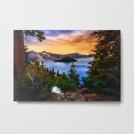 Wallpaper USA Crater Lake National Park Oregon Nature Spruce Mountains park mountain Parks Metal Print