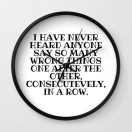 So Many Wrong Things Wall Clock