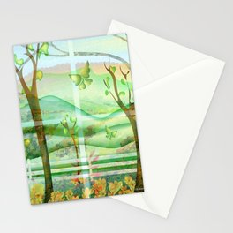 """Out My Window"" Stationery Cards"