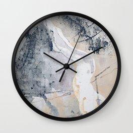 As Restless as the Sea: a minimal abstract painting by Alyssa Hamilton Art Wall Clock