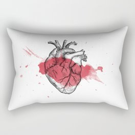 Anatomical heart - Art is Heart  Rectangular Pillow