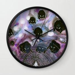 Ink Blob Dream Demons Wall Clock