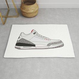 Jordan 3 - White Cement Rug