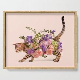 FLOWER CAT Serving Tray