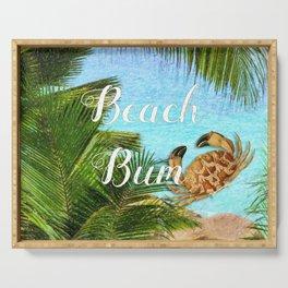 Beach Bum Summer Fun Serving Tray