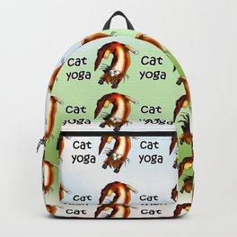 Cat yoga 1 Backpack