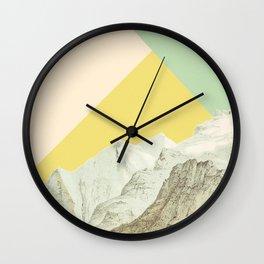 Modern Mountains No. 1 Wall Clock