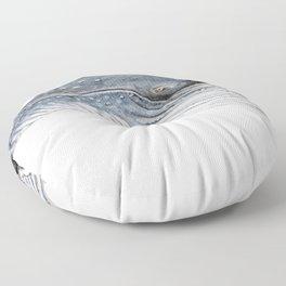 Humpback whale portrait Floor Pillow