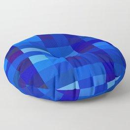 Blue Mosaic Floor Pillow