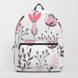 Pink and Gray Tulips Backpack