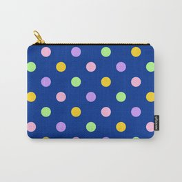 Dots - pastel on navy Carry-All Pouch