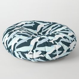 Beluga Whale - Moonstone Floor Pillow