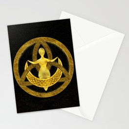 Triquetra Moon Goddess Ornament Stationery Cards