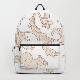 Squirrels and Acorns Pattern (cream on white) Backpack