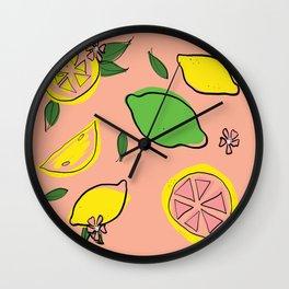 Summer Sip Wall Clock