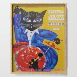 1994 Montreal Jazz Festival Cool Cat Poster No. 3 Gig Advertisement Serving Tray