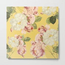 Flora temptation - sunny mustard Metal Print