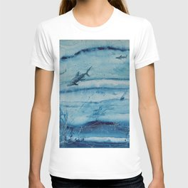 Sharks in deep blue T-shirt