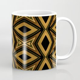 Tribal Diamonds Pattern Brown Colors Abstract Design Coffee Mug