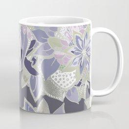 Mauve gray lavender silver watercolor floral Coffee Mug