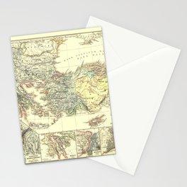 Vintage Map - Spruner-Menke Handatlas (1880) - 89 Ottoman Empire and neighboring nations 1391 – 1452 Stationery Cards