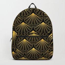Singapore Art Deco Motif Pattern Backpack
