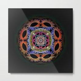 Psyche Third Eye Mandala Sphere Metal Print