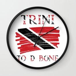 Trini To D Bone  Trinidad and Tobago Flag Wall Clock