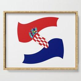 Flag of croatia 4 -croatian, Hrvatska,croat,croacia,Zagreb,split,rijeka,osijek. Serving Tray