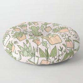 Potted Plants Print Floor Pillow