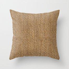 Rustic Natural Fibers  Throw Pillow