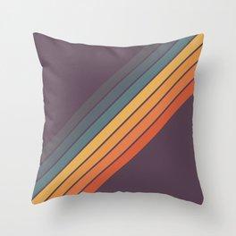 Classic 70s Style Retro Stripes - Dalana Throw Pillow