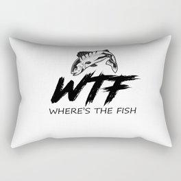 Where's The Fish Fisherman Fishing Lover Rectangular Pillow