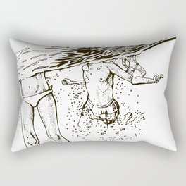 Swimming into the sea Rectangular Pillow