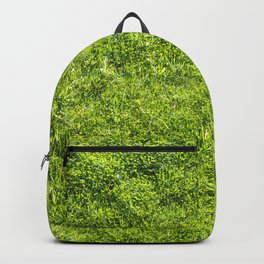 Field of fresh green grass Backpack