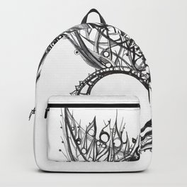 visual pattern of exotic lines Backpack