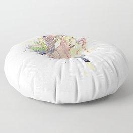 Künstlerisch gestalteter Löwe Design Floor Pillow