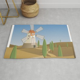 a quijote's glance Rug