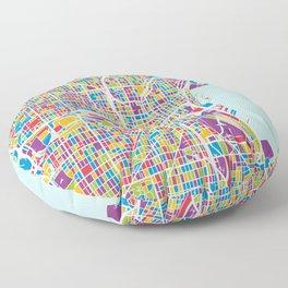 Milwaukee Wisconsin City Map Floor Pillow