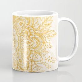 Queen Starring of Mandala-Gold Sunflower II Coffee Mug