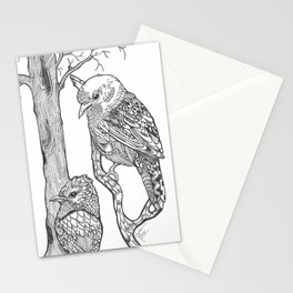BIRDS HAVE NO LIMITS TO HOW FAR THEY HELP THEIR CHILDREN.... Stationery Cards