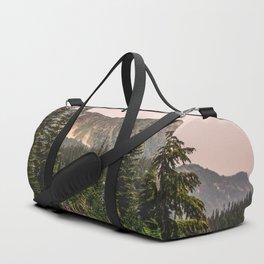Mount Rainier Wildflower Adventure VII - Pacific Northwest Mountain Forest Wanderlust Duffle Bag