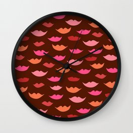 LIP SERVICE {raisin} Wall Clock