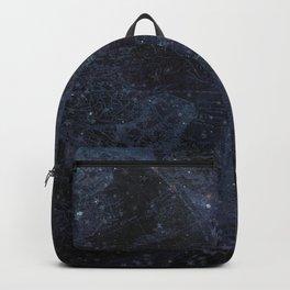 Antique World Star Map Navy Blue Backpack