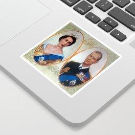 Queen Elizabeth 11 & Prince Philip in 1952 Sticker