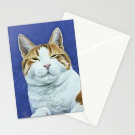 Joey the Cat - Vanalike on Blue Stationery Cards
