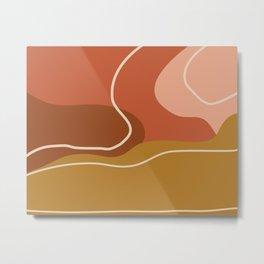 Abstract Organic Shapes in Zen Desert Color  Metal Print
