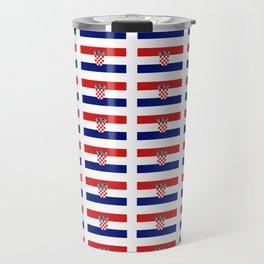 Flag of croatia 2 -croatian, Hrvatska,croat,croacia,Zagreb,split,rijeka,osijek. Travel Mug
