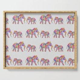 Floral Elephants, Nursery Decor Serving Tray