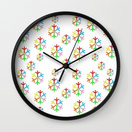 Multicolor stars 2-stars,yellow,night,sky,light, dark,kitsch,rays,hope,pointed Wall Clock